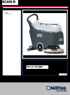 Lista de peças da lavadora de pisos SC450