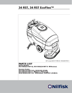 Manual de peças da lavadora 34RST