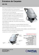 Folheto da Extratora Nilfisk AX410